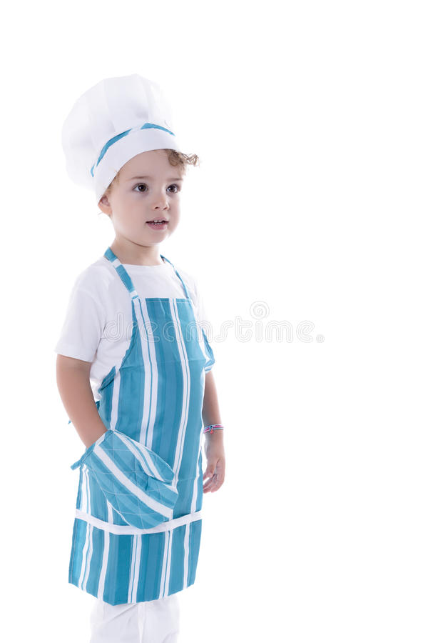 Chef-kokkind royalty-vrije stock fotografie