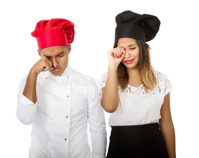 Chef-kokproblemen royalty-vrije stock fotografie