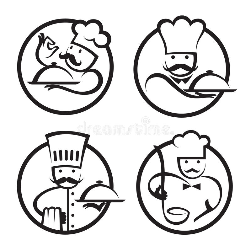 Chef-koks vector illustratie