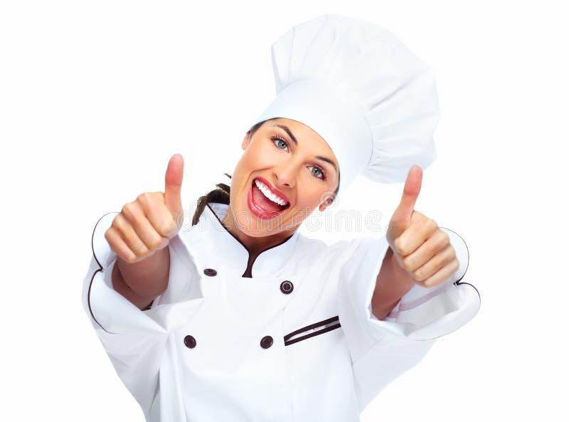 Chef-kokvrouw. royalty-vrije stock afbeeldingen