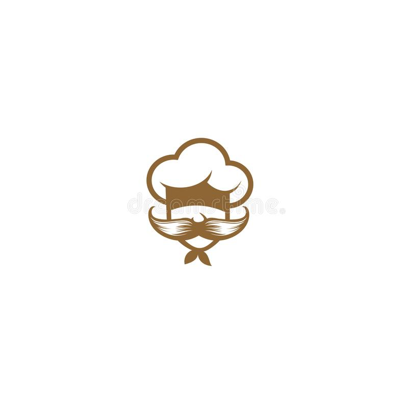 Chef with large mustache vector illustration stock illustration