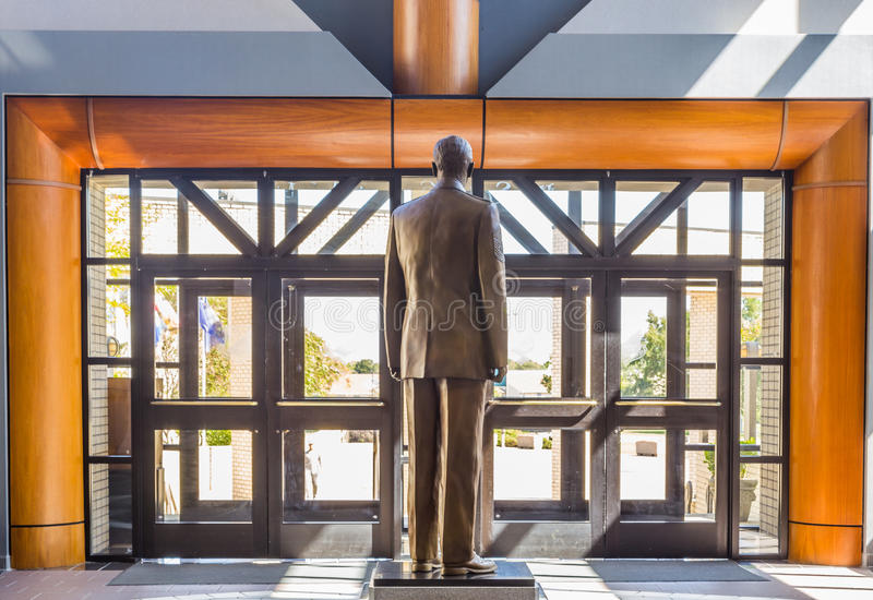 Chef ledar- Sergent Richard D Kisling staty arkivbild