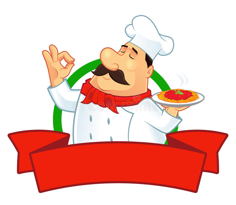 Chef Logo Character stock image