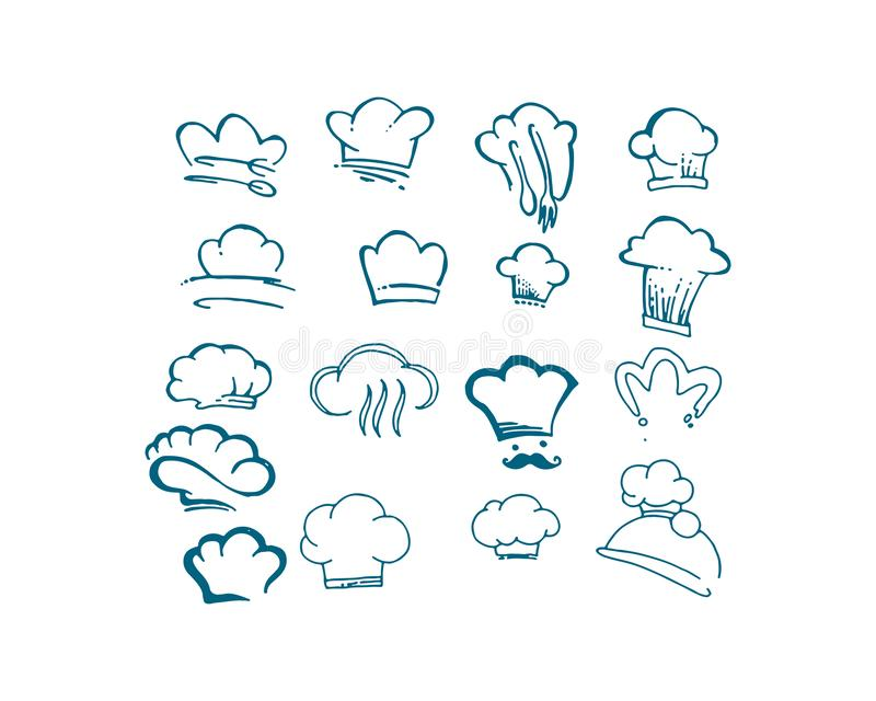 Chef logo classical cook catering vector design stock illustration