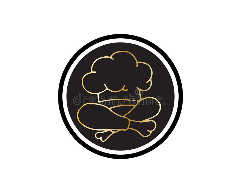 Chef logo classical cook catering vector design royalty free illustration