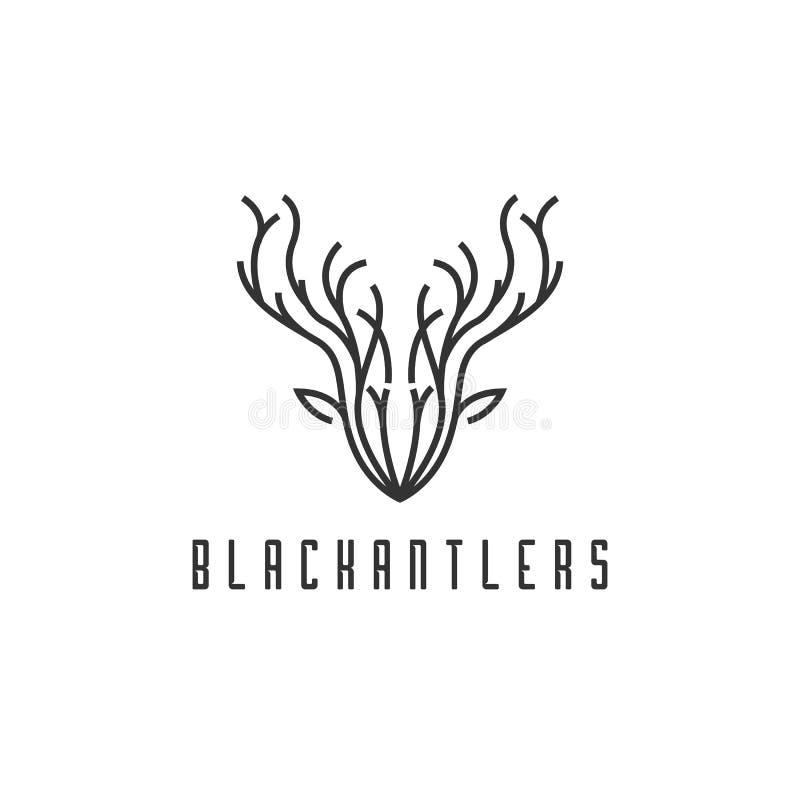 Chef Logo Design, style de cerfs communs de schéma illustration stock