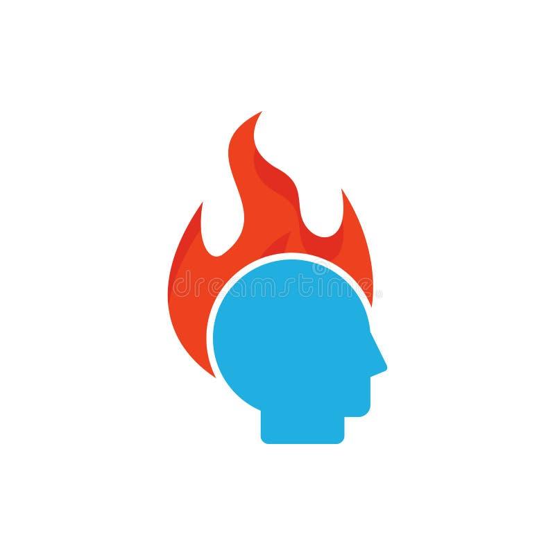 Chef Logo Icon Design de brûlure illustration stock
