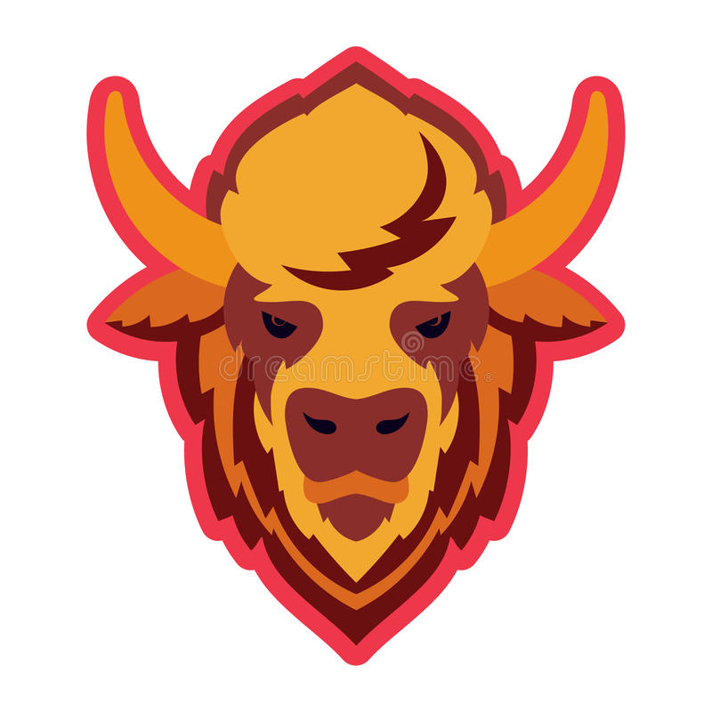 Chef Logo Mascot de Buffalo illustration libre de droits