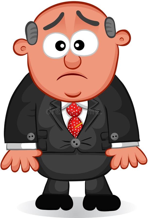 Chef- Man Unhappy stock illustratie