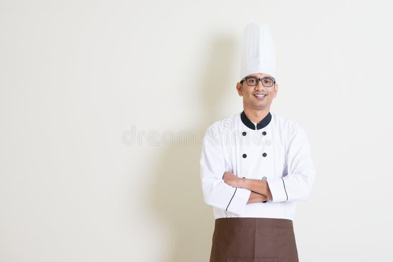 Chef masculin indien beau dans l'uniforme photo libre de droits