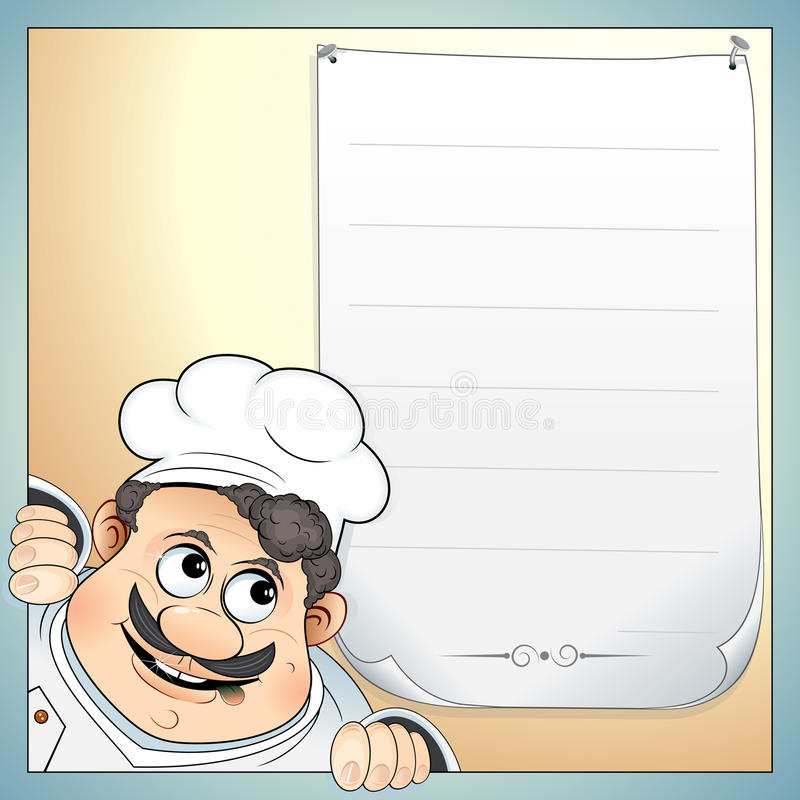 Download Chef with menu stock vector. Illustration of expressing - 15495164