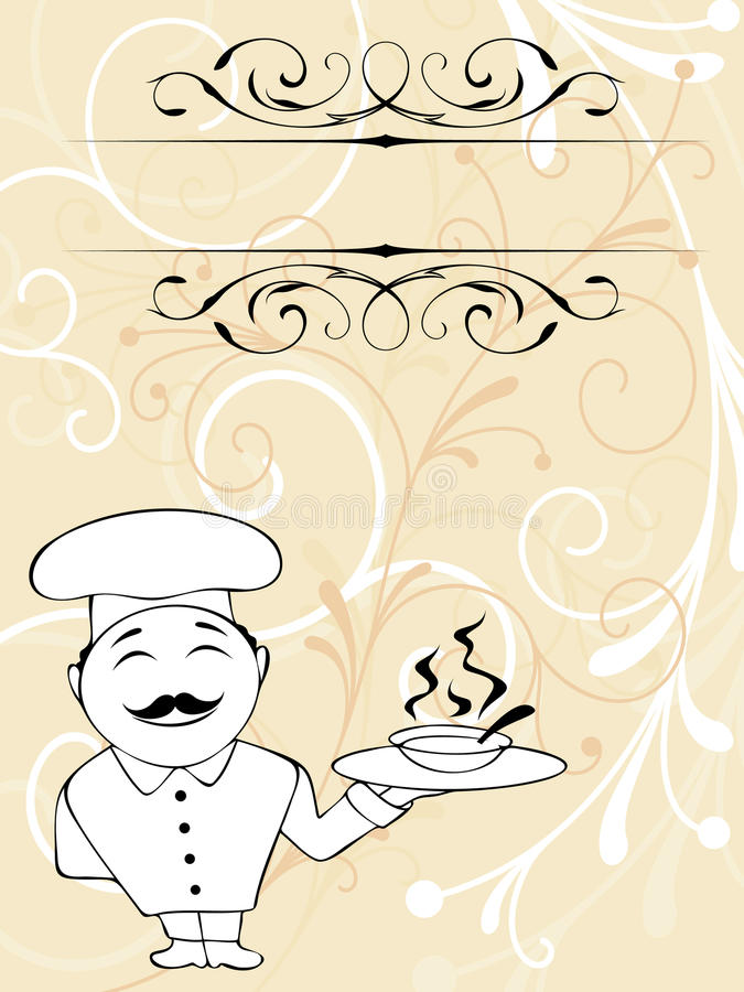 Chef menu royalty free illustration