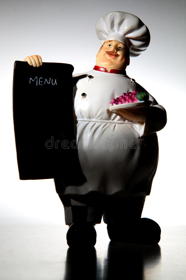 Download Chef with menu board stock image. Image of character - 11459771