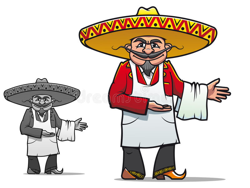 Chef mexicain illustration de vecteur