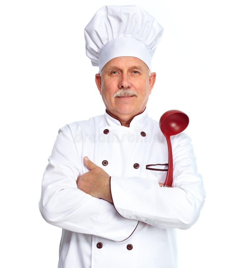 Chef mit Schöpflöffel lizenzfreie stockfotos