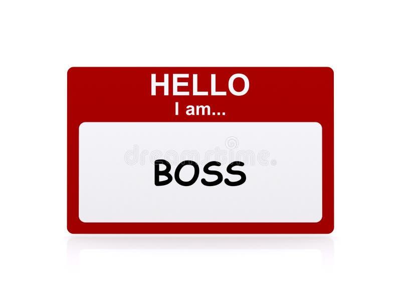 Chef Name Tag lizenzfreie abbildung