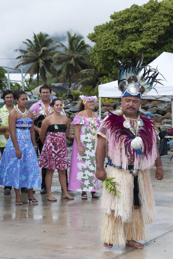 Chef på kocken Island Rarotonga arkivfoton