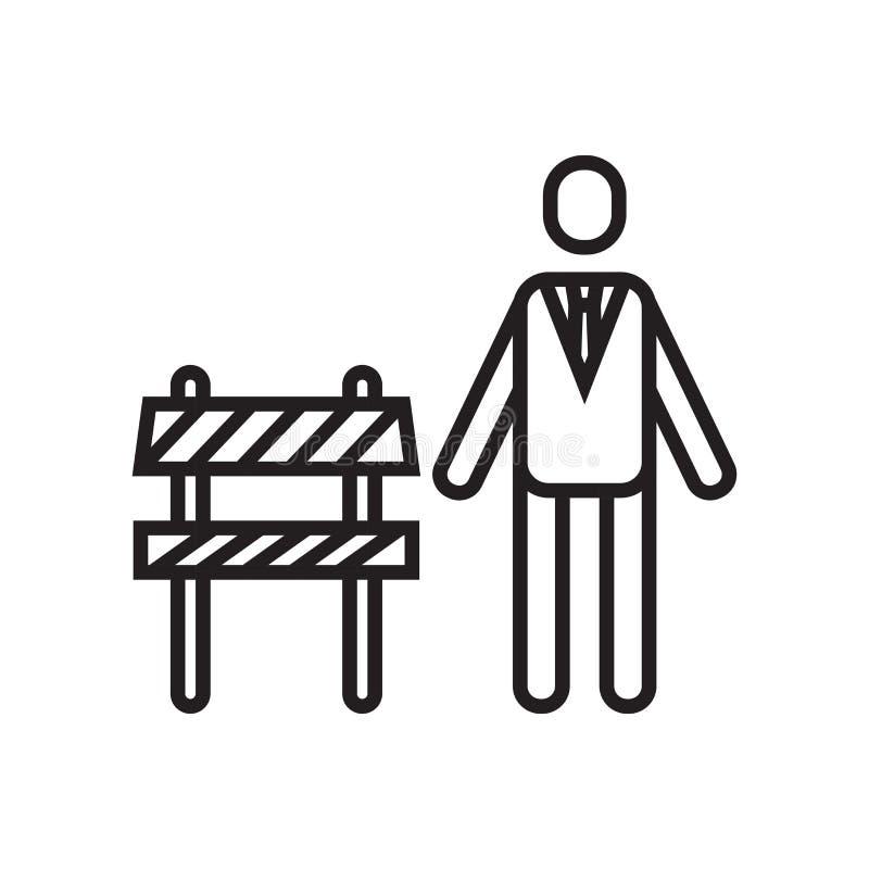 Chef- pictogram vectordieteken en symbool op witte achtergrond, B wordt geïsoleerd stock illustratie