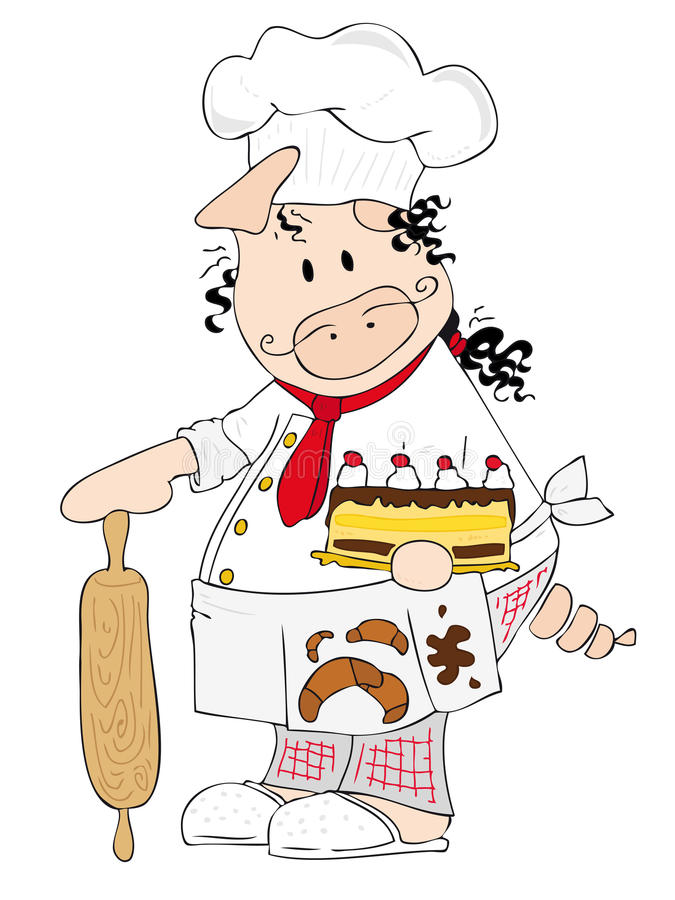 Download Chef Pig. stock vector. Illustration of chocolate, preparation - 12693223