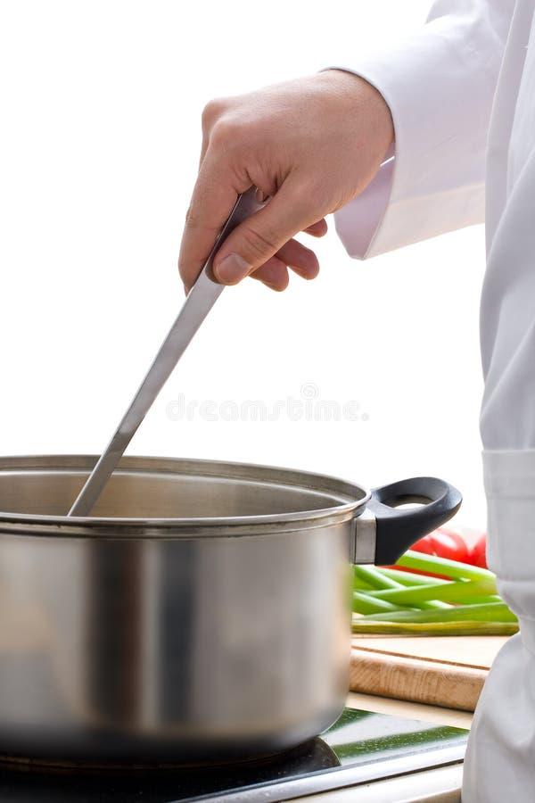 Chef préparant le repas photo libre de droits