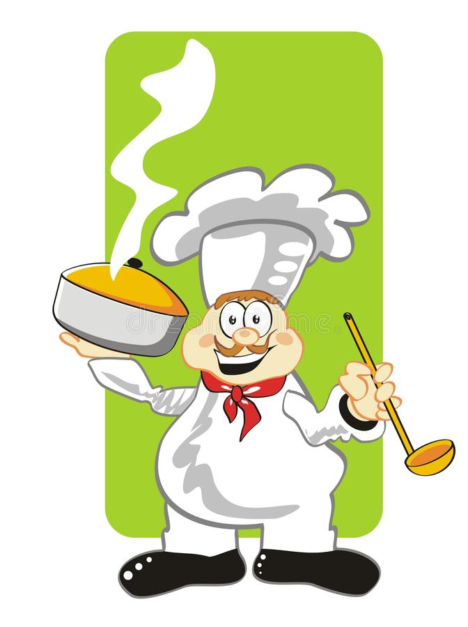 Download Chef preparing food stock vector. Illustration of male - 26275964