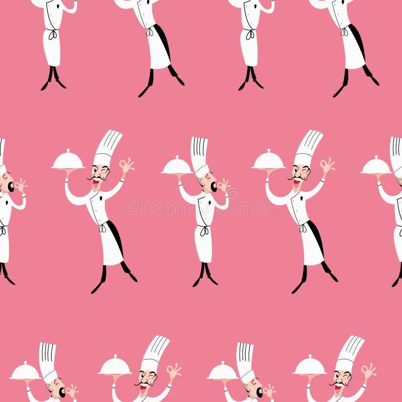 chef również zwrócić corel ilustracji wektora ilustracja wektor