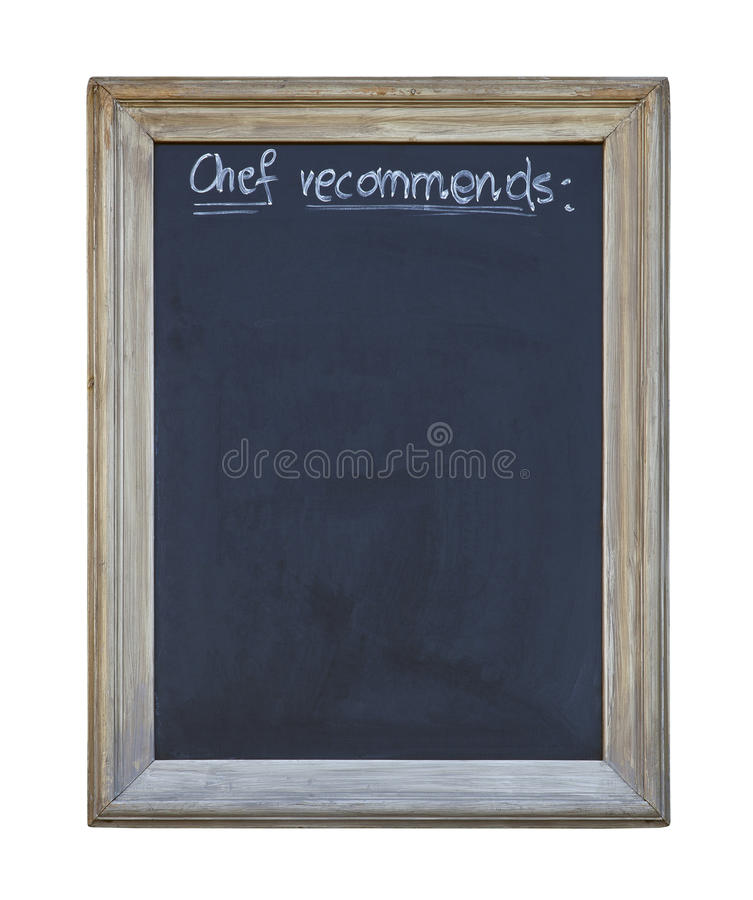 Download Chef recommends chalkboard stock image. Image of handwriting - 31596459