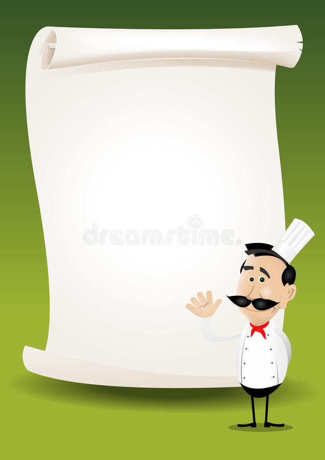 Chef Restaurant Poster Menu Background royalty free stock images