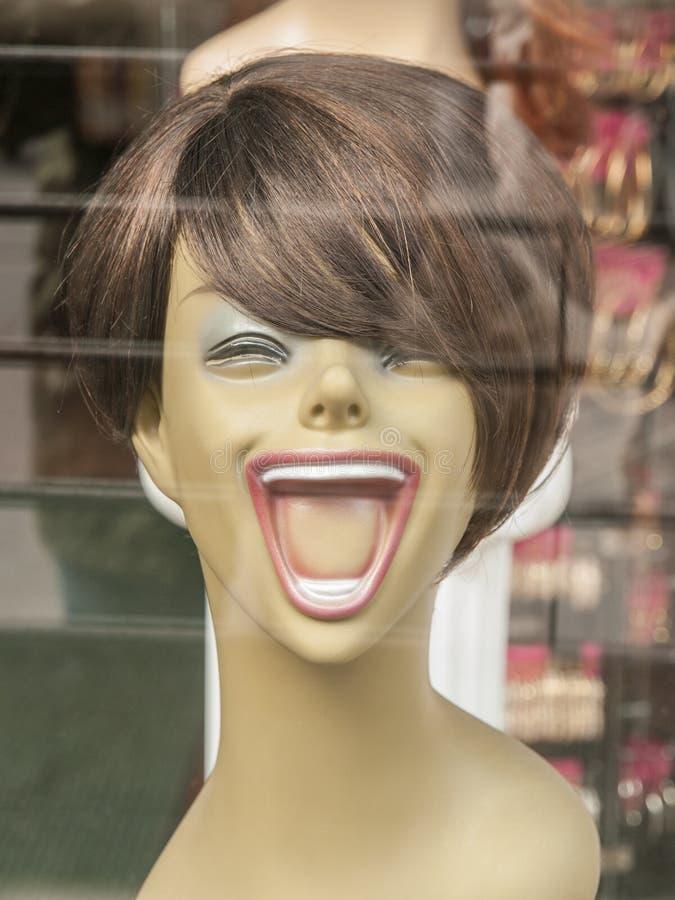 Chef riant de mannequin photos stock