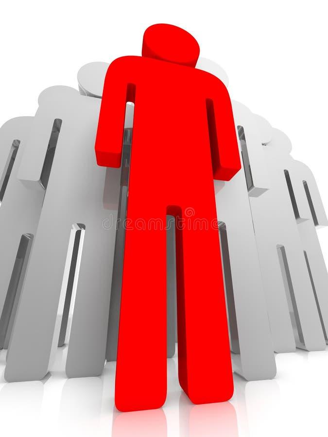 Chef rouge illustration de vecteur