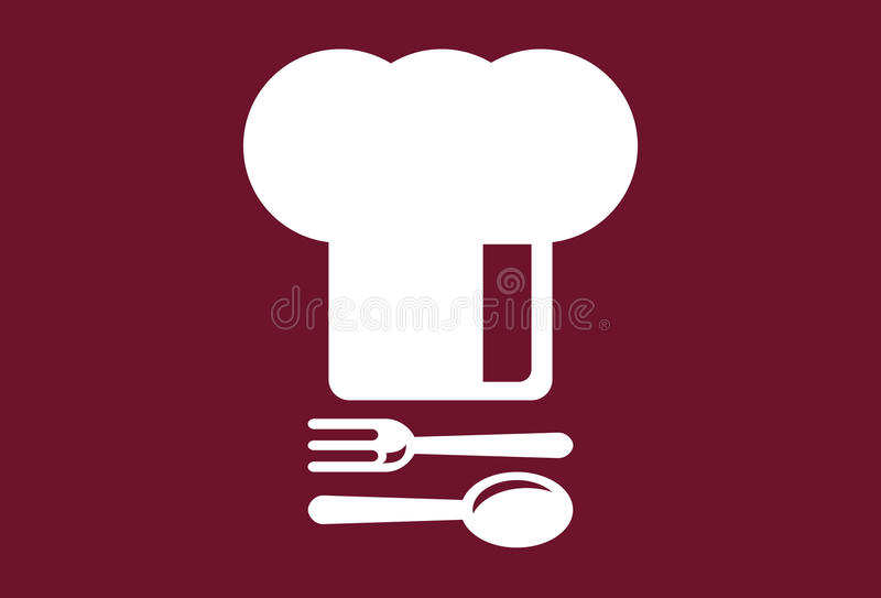 Chef's Hat with spoon and fork vector illustration