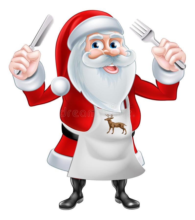 Chef Santa Concept vector illustration