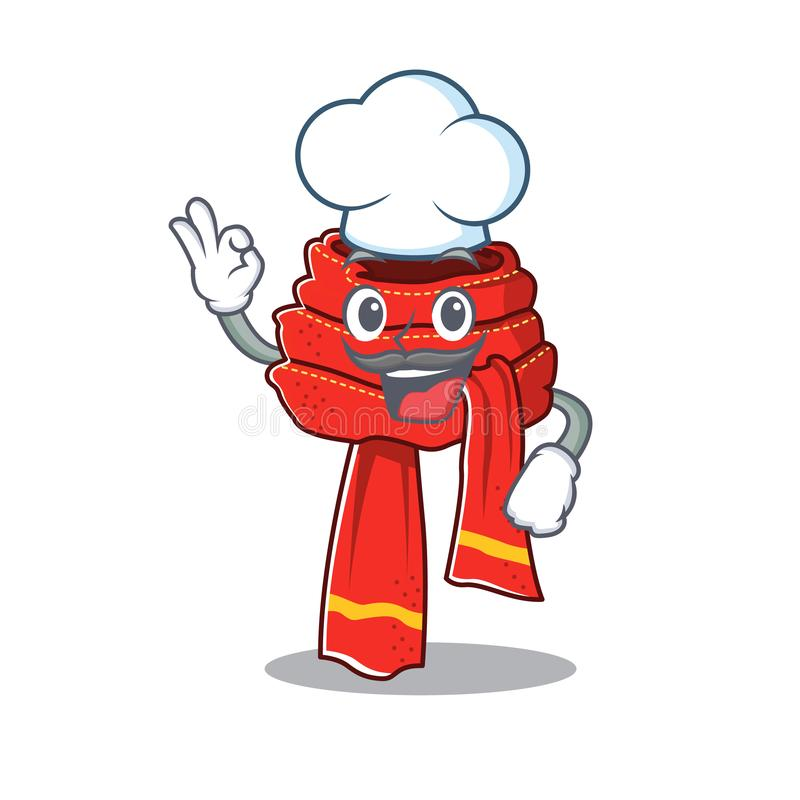 Chef Hat ,red Scarf And Gloves Stock Illustration