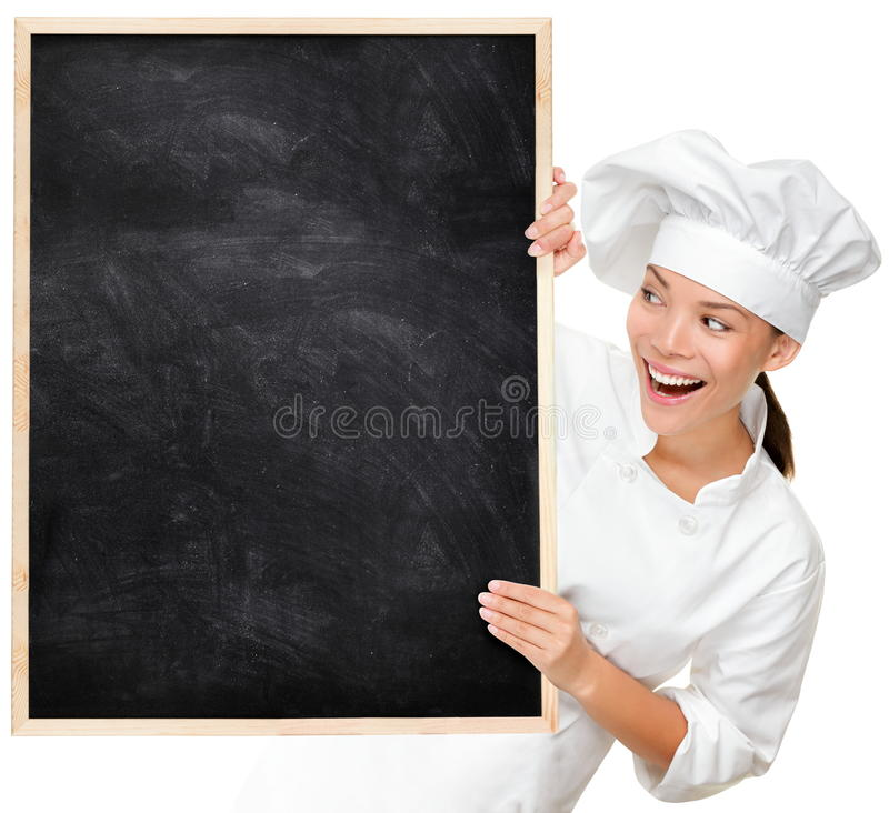 Free Chef Showing Blank Menu Sign Stock Images - 22155474