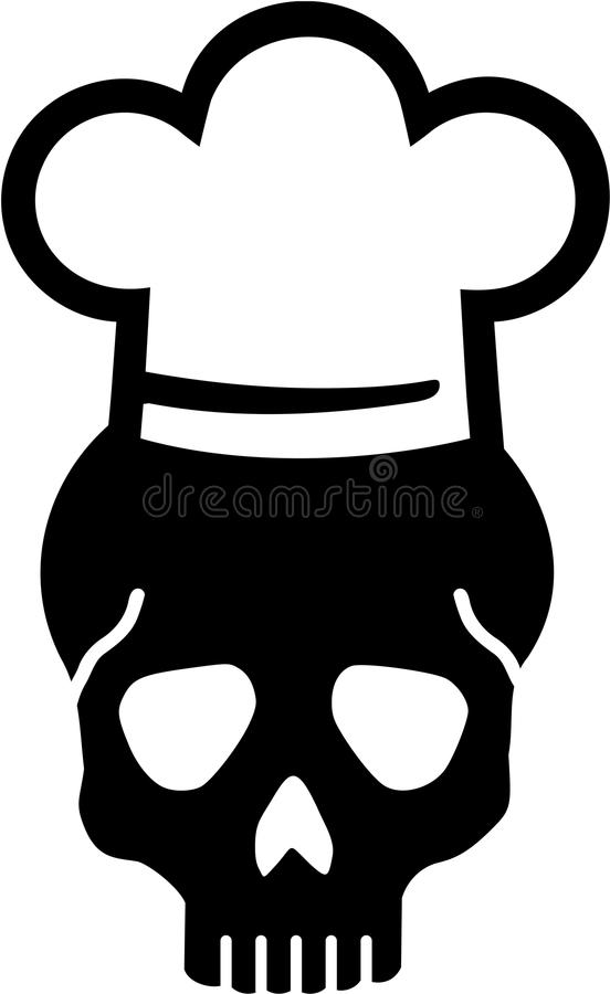Chef-Skull-Vektor stock abbildung
