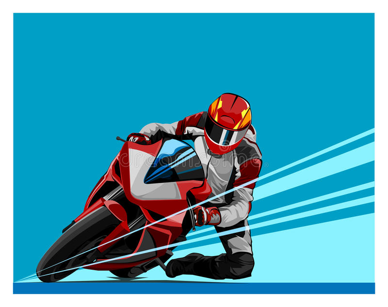 Motor Racing. Vector motor sport in action stock illustration