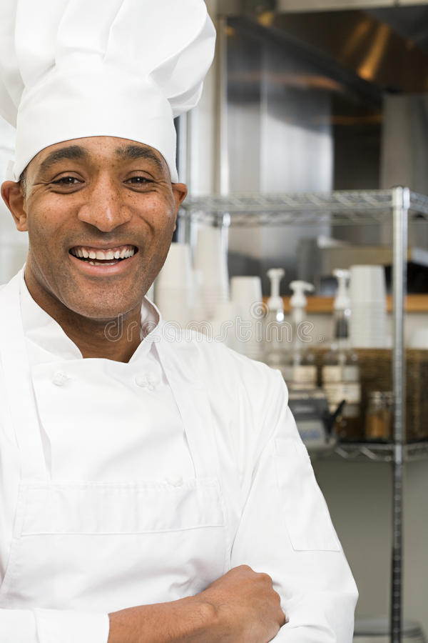 Chef smiling royalty free stock photography