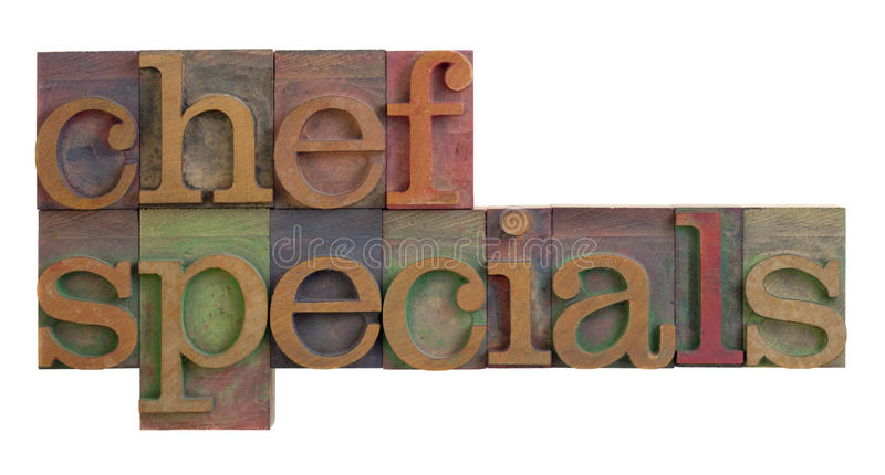 Chef specials royalty free stock image