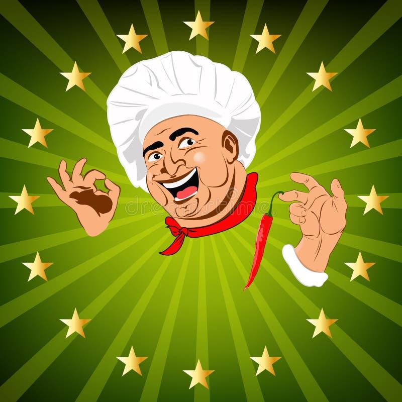 Chef.Sticker engraçado ilustração do vetor