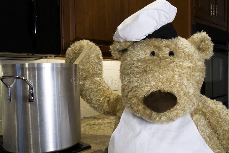 Chef Stirring royalty free stock photo
