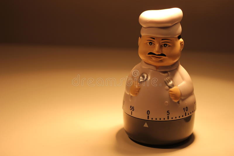 Chef Timer lizenzfreie stockfotos