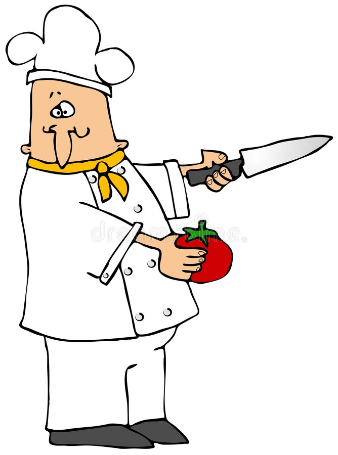 Download Chef With A Tomato Stock Photo - Image: 5653660