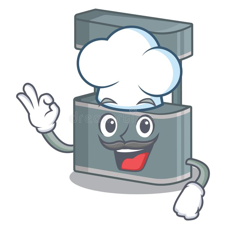 Chef trade stand in the character shape. Vector illustraton vector illustration