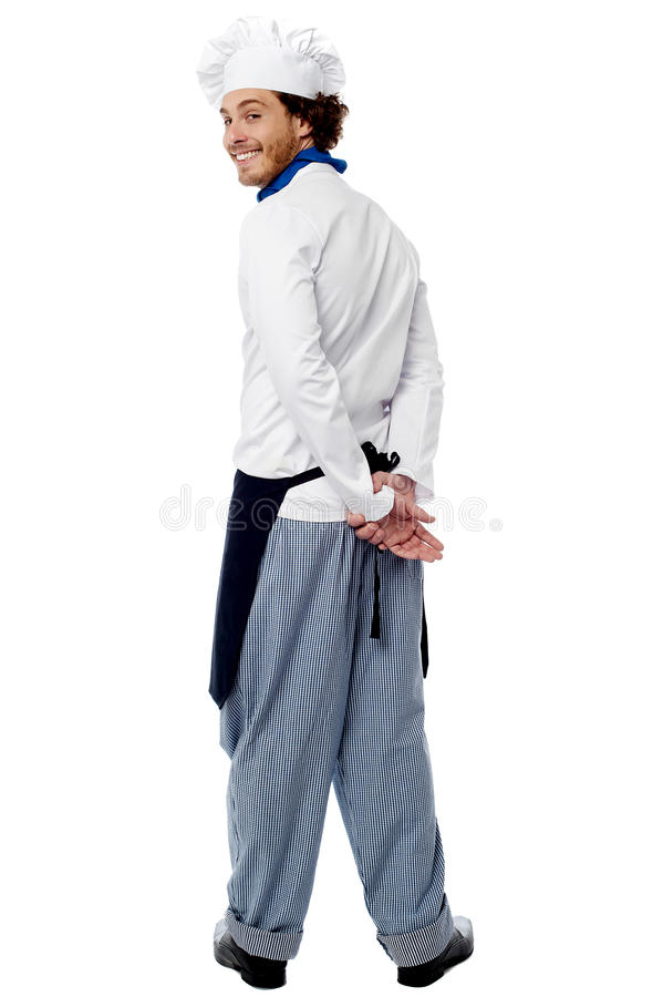 Free Chef Turning Back And Smiling Royalty Free Stock Image - 32907396