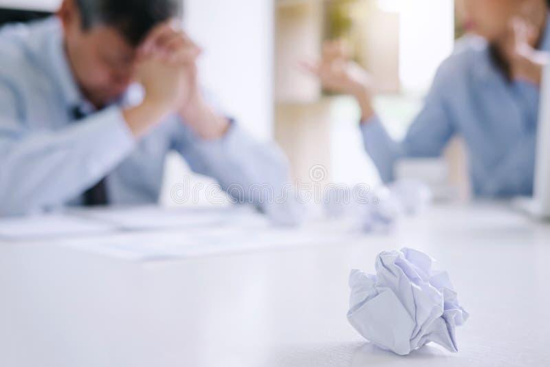 Chef- und Exekutiveteamgefühlsdruck und ernstes von Ausfallung busin stockbild