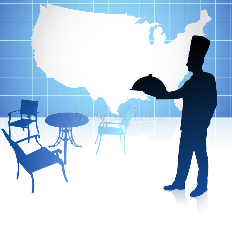 Chef With United States Map Stock Vector Illustration of black