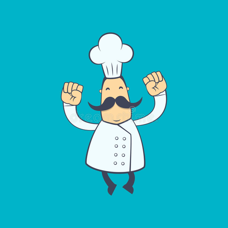 Chef In Various Poses Stock Photo