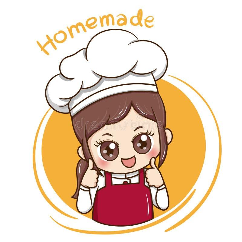 Chef_vector_1 femelle illustration de vecteur