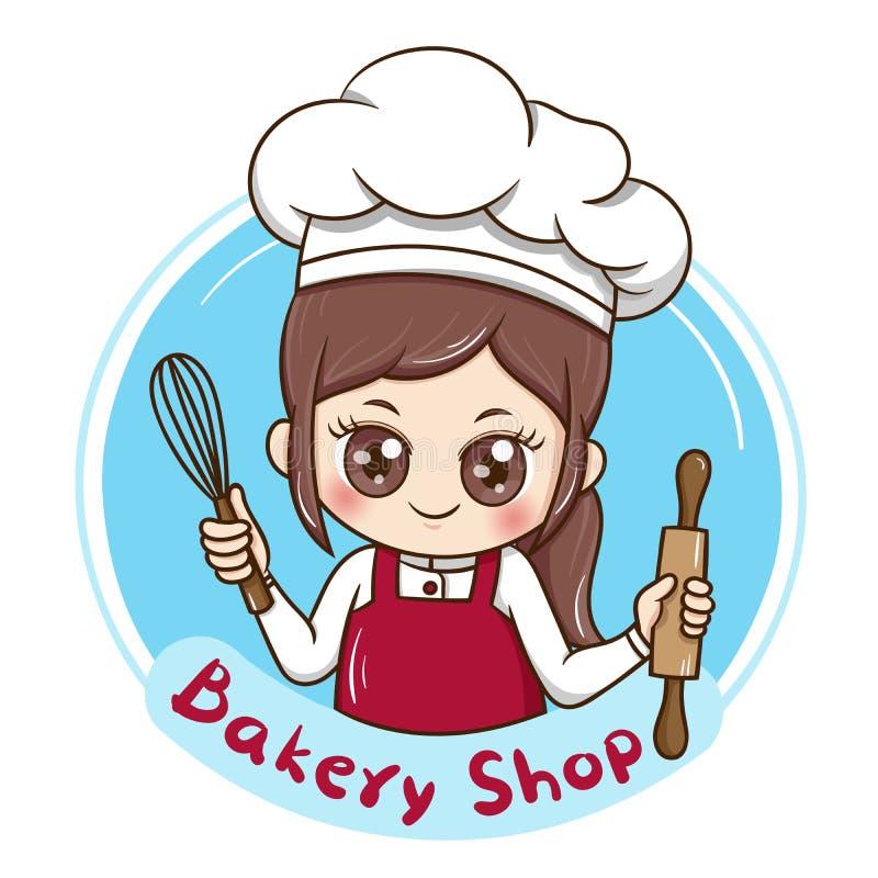 Chef_vector_2 femelle illustration stock