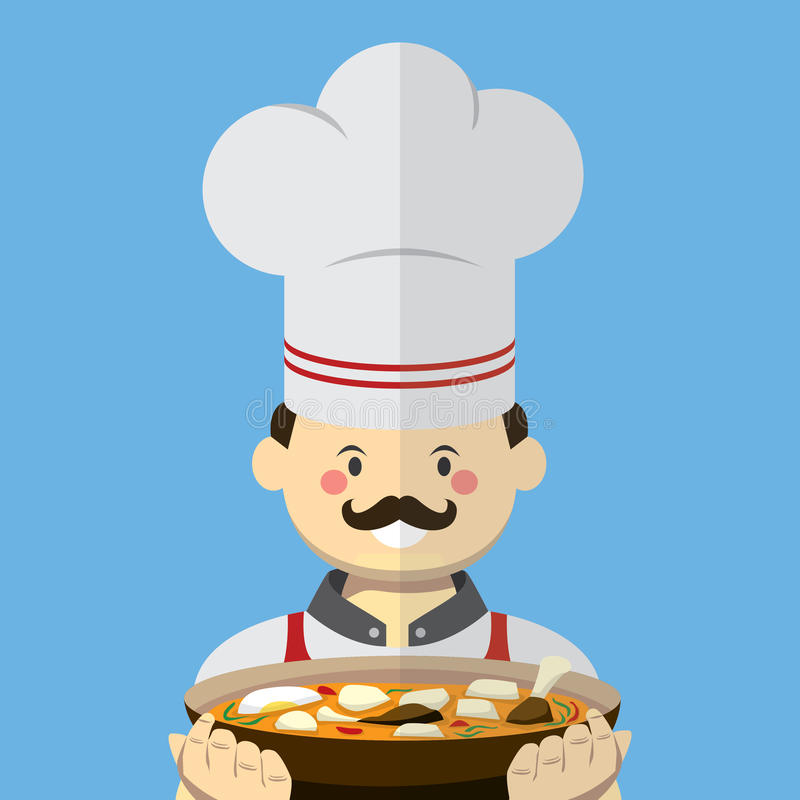 Chef vector flat style stock images